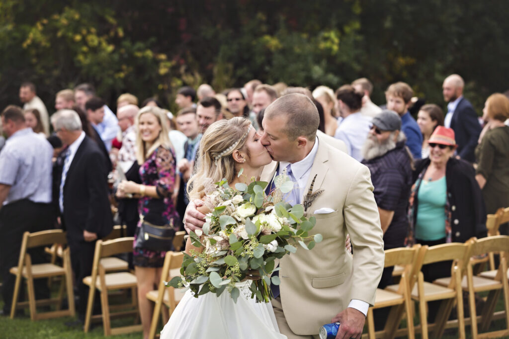 Starry Night Barn and Studios Wedding Kiss