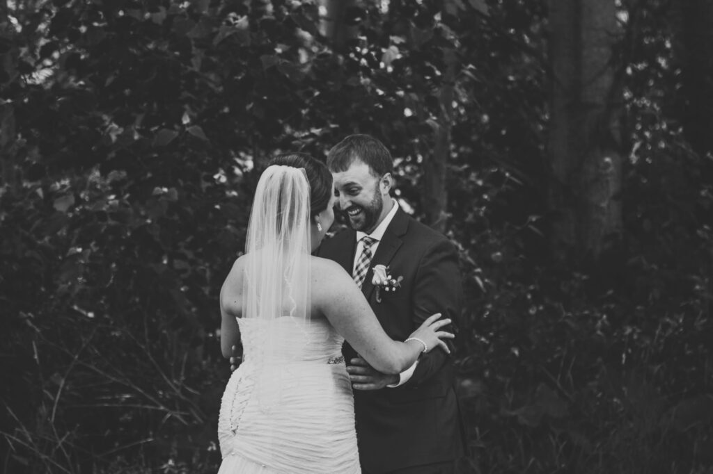 Wedding couple at Starry Night Barn and Studios