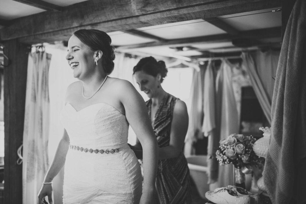 Bride at Starry Night Barn and Studios Wedding