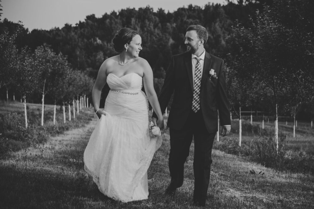 Couple at Starry Night Barn and Studios Wedding