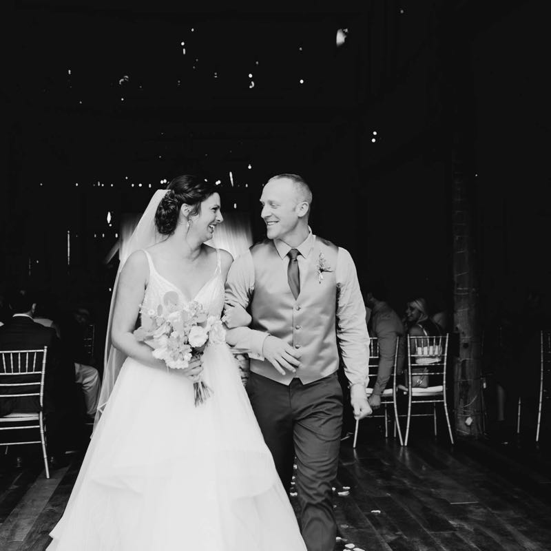 Happy couple at Starry Night Barn and Studios