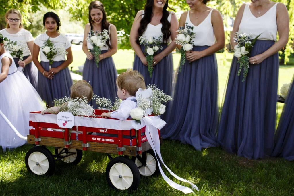 Kids at Starry Night Barn and Studios wedding