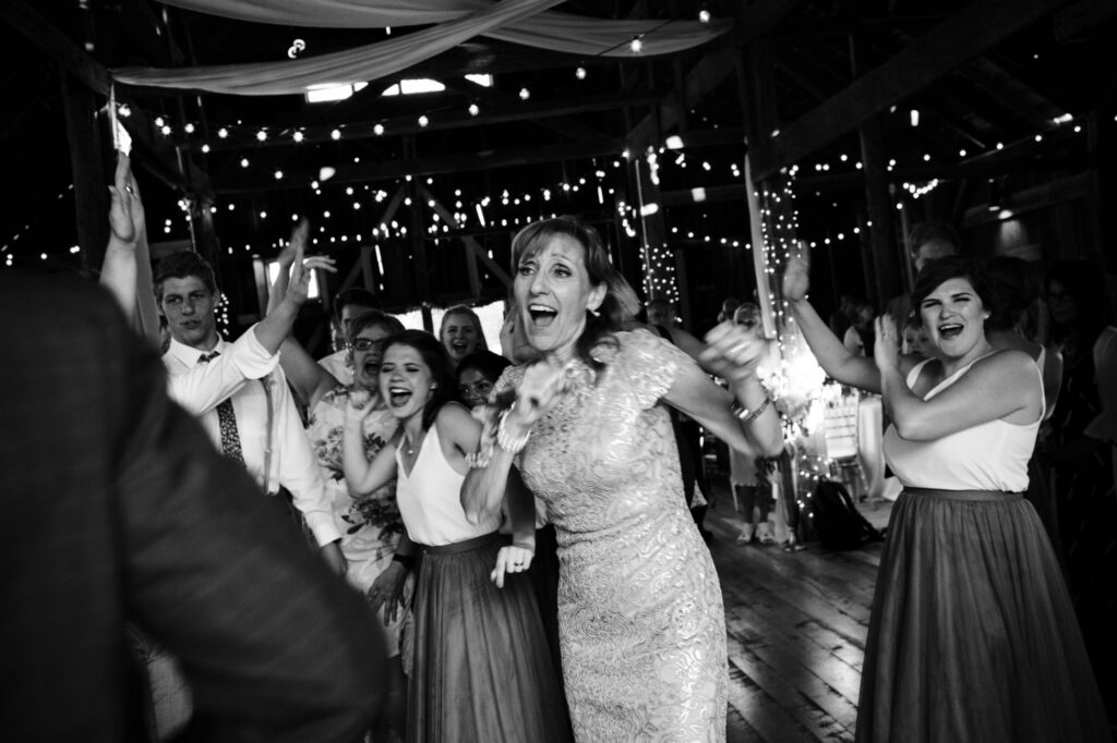 Guests dancing at Starry Night Barn and Studios