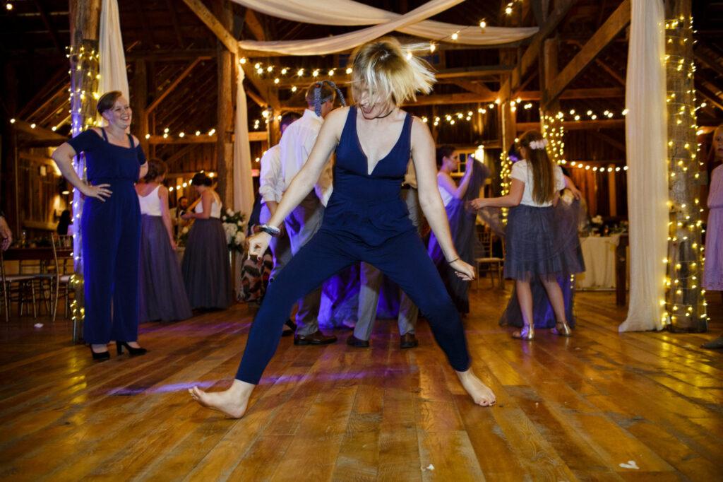 Dancing at Starry Night Barn and Studios Wedding