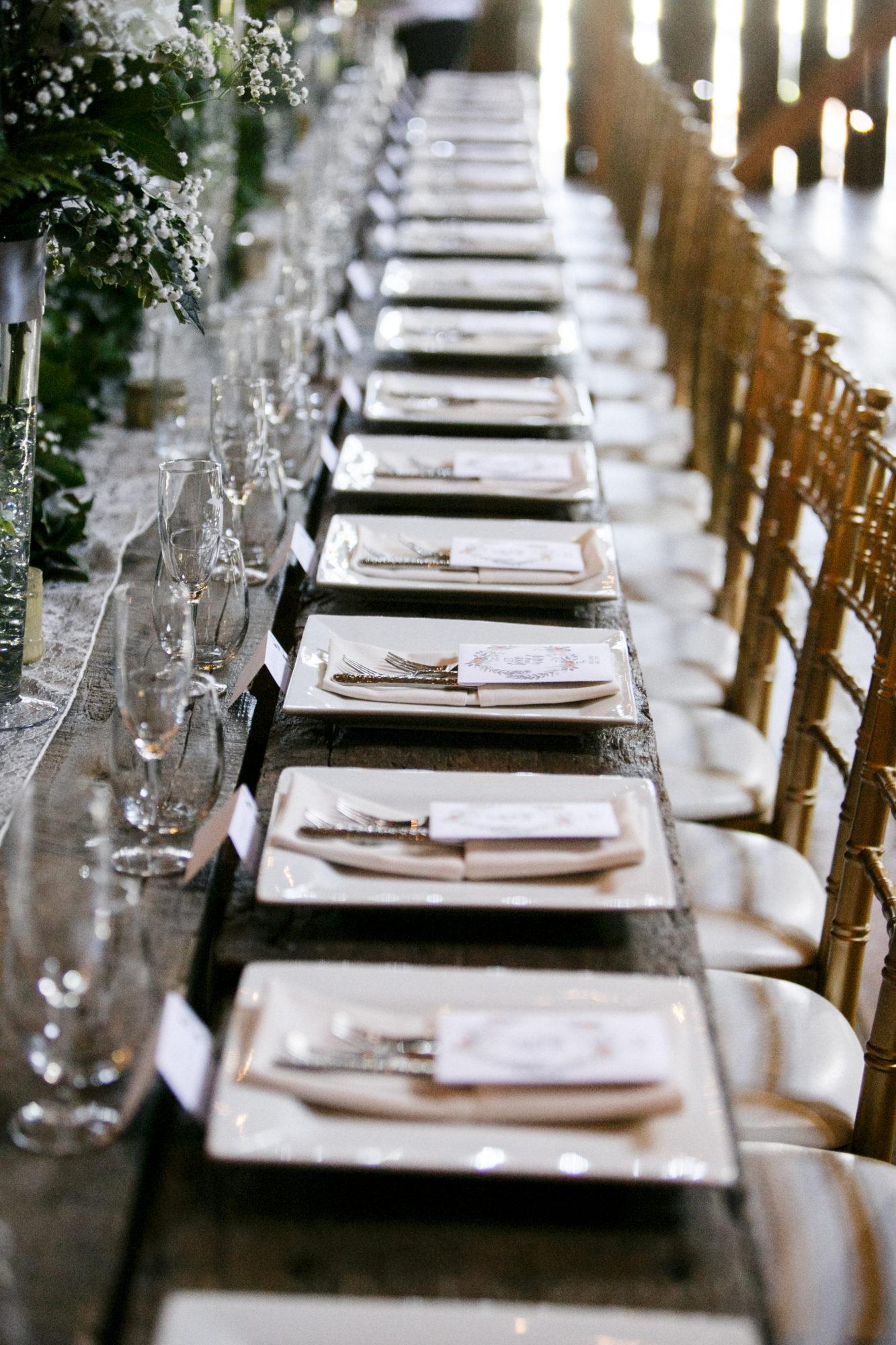 Starry Night Barn and Studios Wedding Reception tables