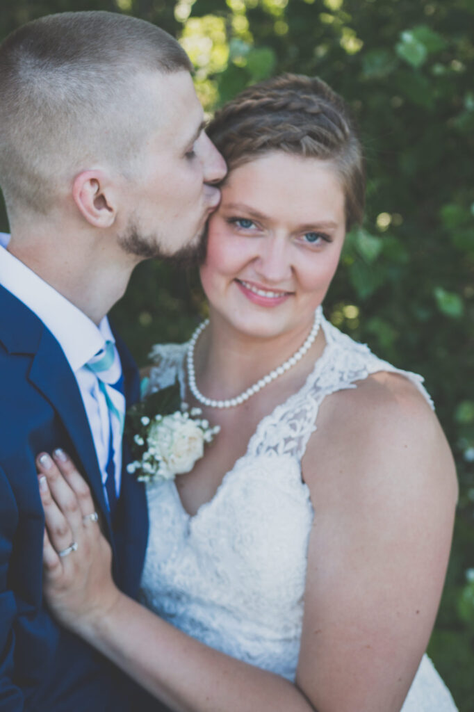 Married couple at Starry Night Barn and Studios Wedding