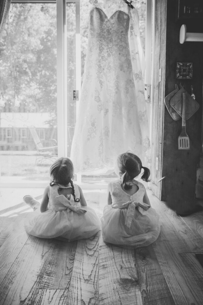 Flower girls at Starry Night Barn and Studios