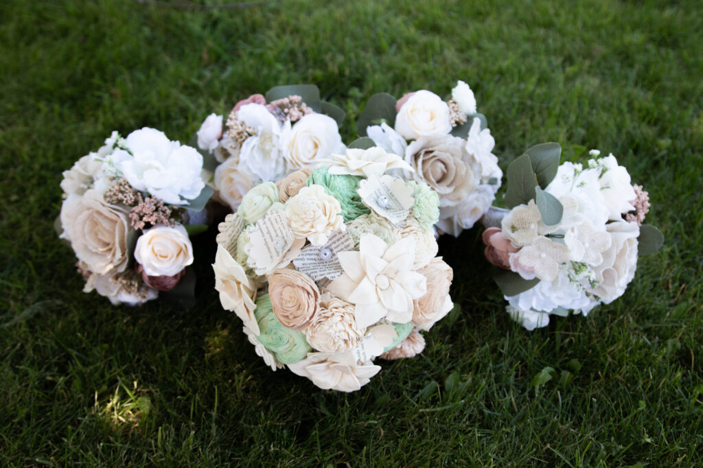 Bridal bouquets at Starry Night Barn and Studios