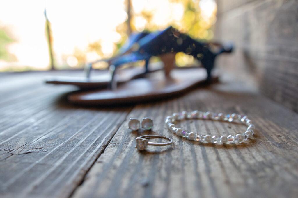 Wedding jewelry at Starry Night Barn