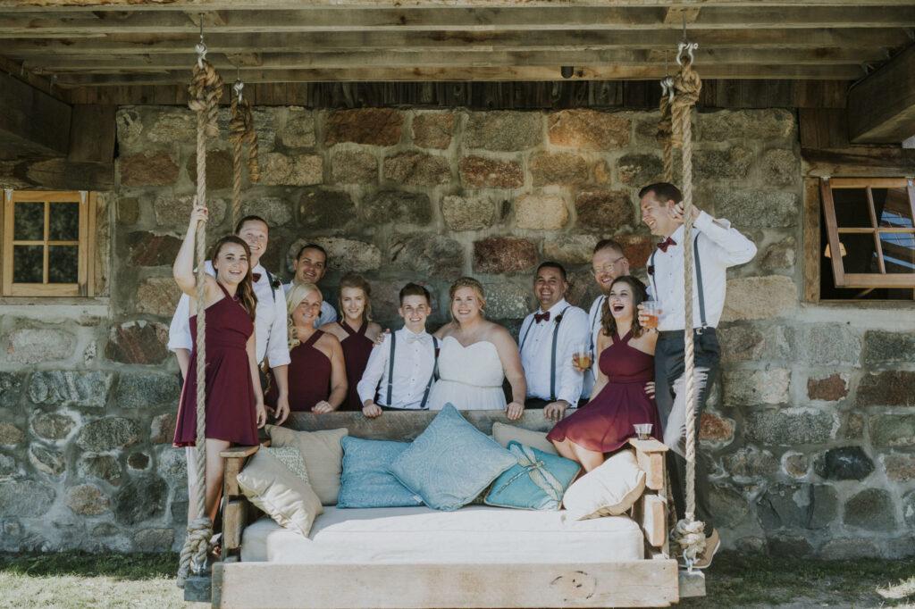 Bridal party at Starry Night Barn Wedding