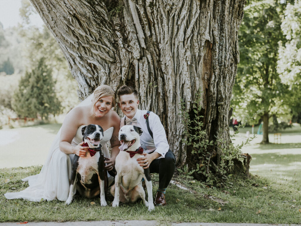 Married couple at Starry Night Barn Wedding