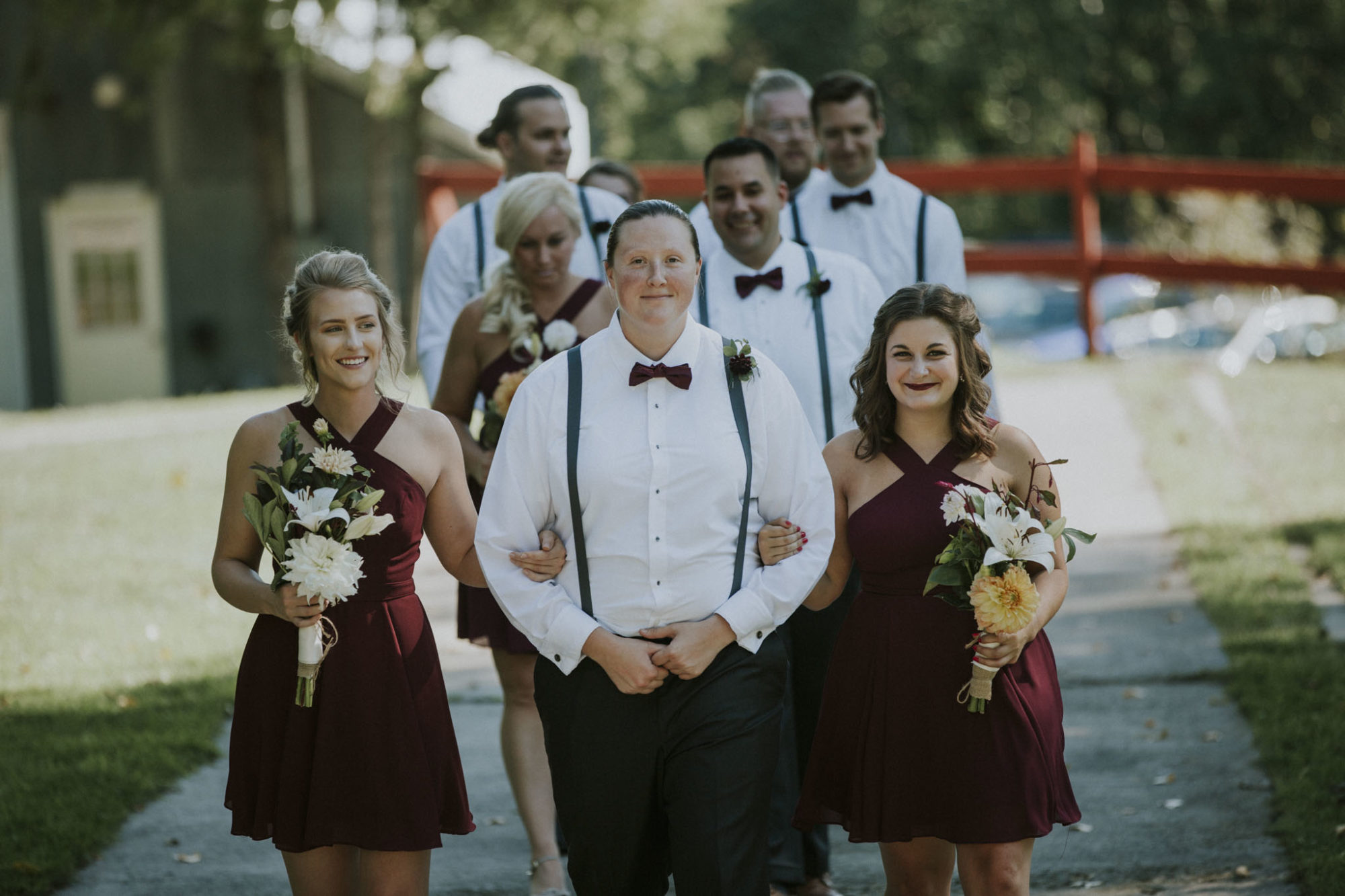Bridal party at Starry Night Barn Wedding ceremony