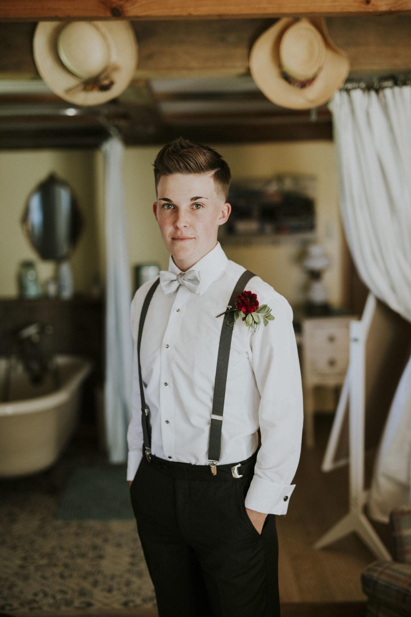 Partner at Starry Night Barn Wedding