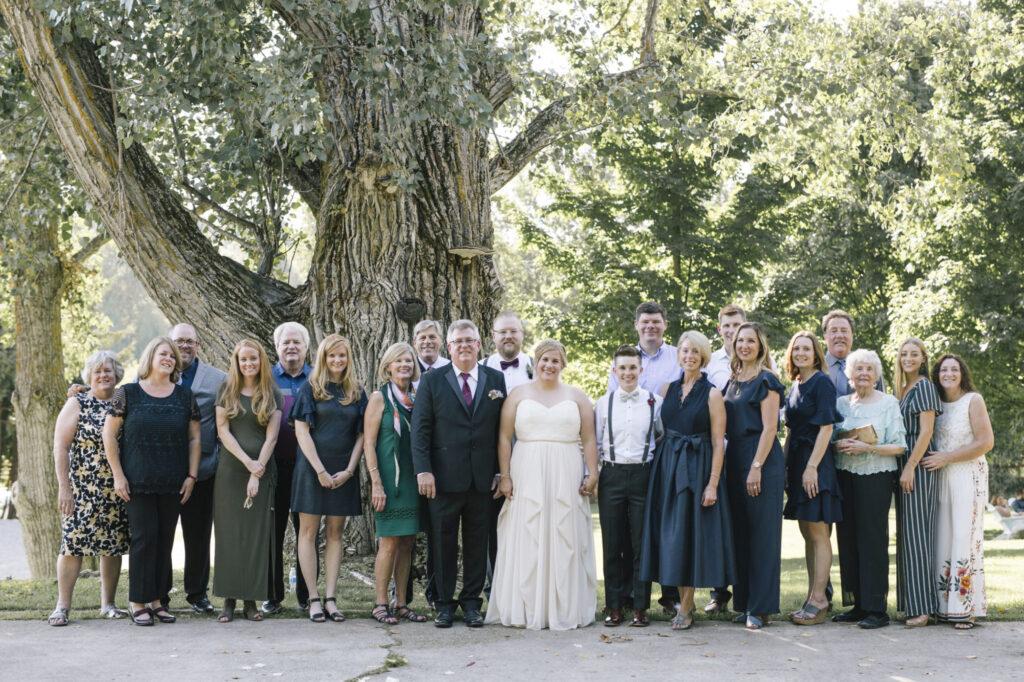 Wedding family at Starry Night Barn Wedding