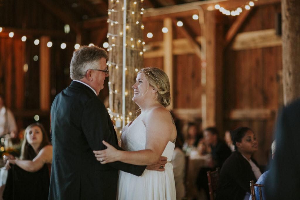Dancing at Starry Night Barn Wedding