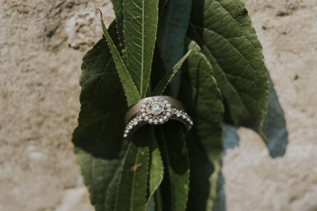 Wedding ring at Starry Night Barn Wedding