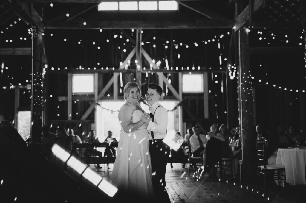 Dancing couple at Starry Night Barn Reception