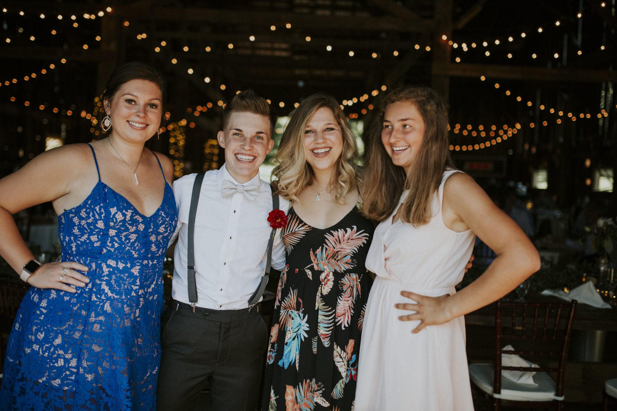 Wedding guests Starry Night Barn reception