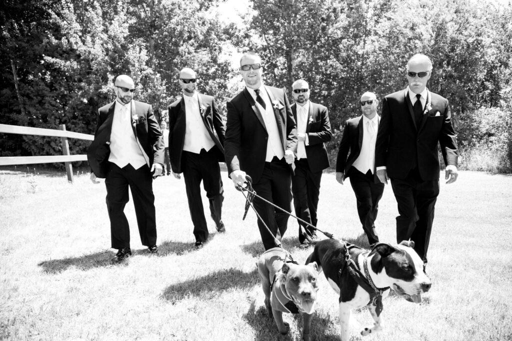 Groomsmen at Starry Night Barn and Studios Wedding