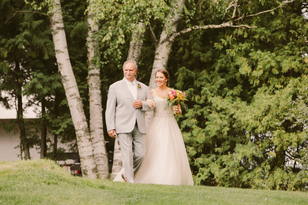 Father and Bride at Starry Night Barn and Studios