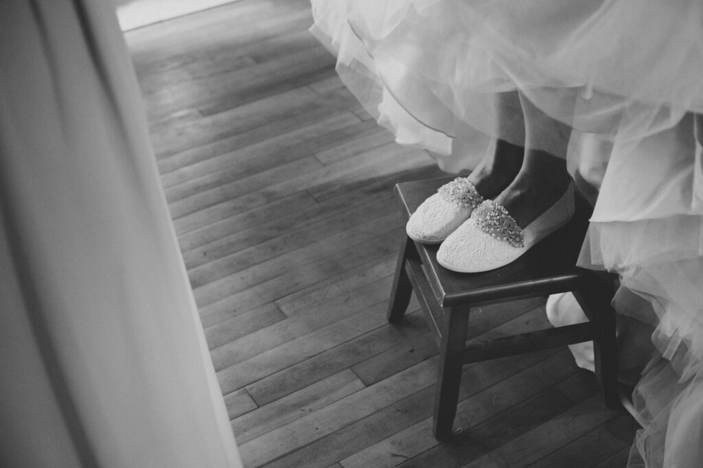 Wedding Shoes at Starry Night Barn and Studios