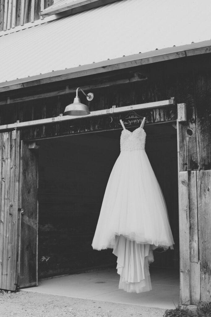 Wedding Dress at Starry Night Barn and Studios
