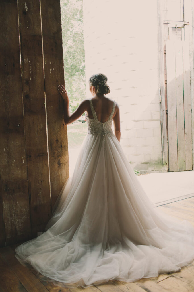 Bride at Starry Night Barn and Studios