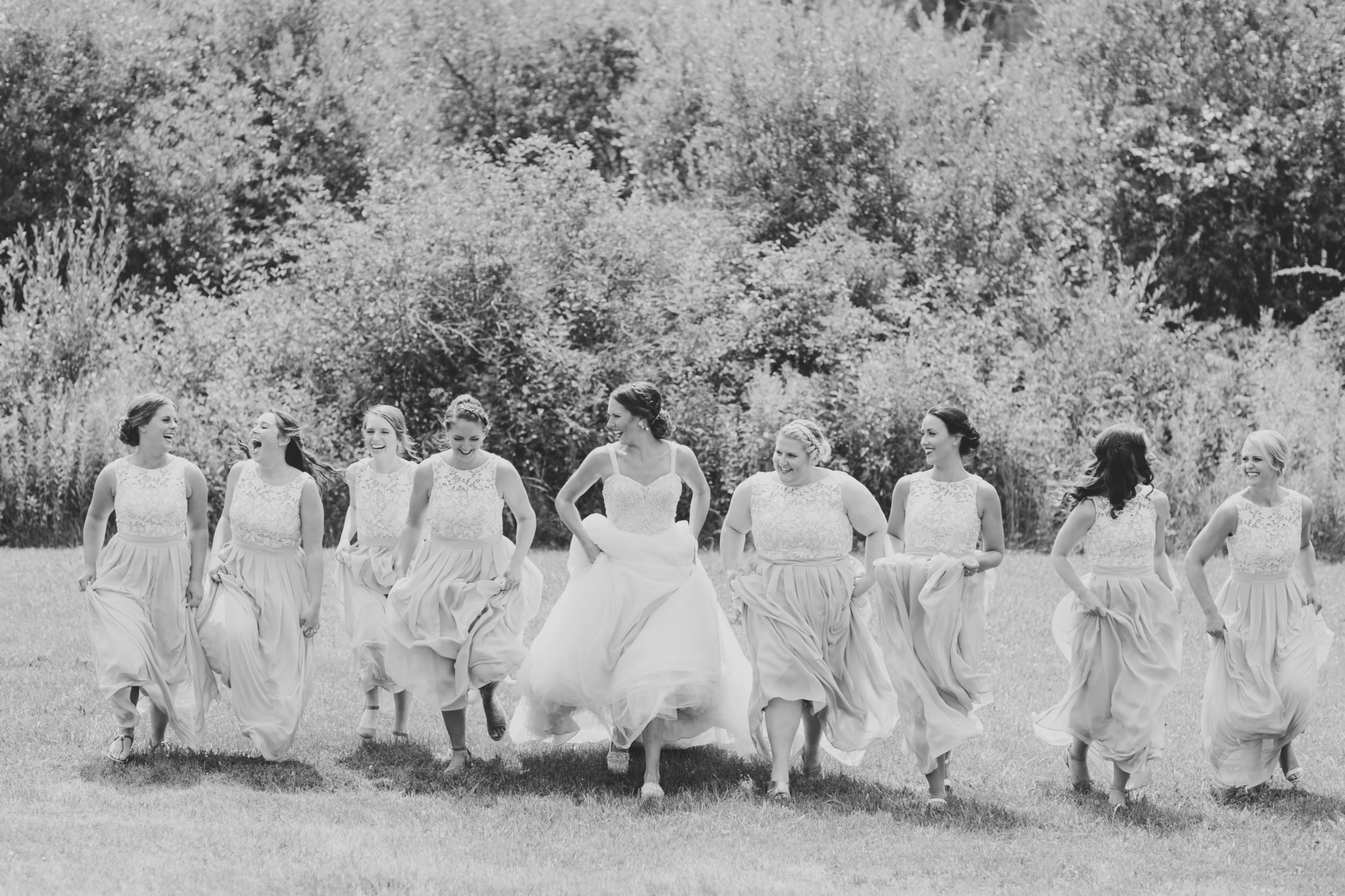 Wedding party at Starry Night Barn and Studios